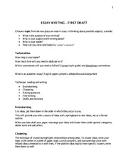Guidelines to writing essays in English