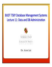 Lecture 11 - Data and DB Administration.pdf
