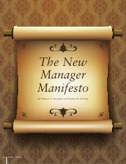 Davenport, T. O., & Harding, S.D. (2012). The new manager manifesto. People & Strategy, 35(1), 24–31