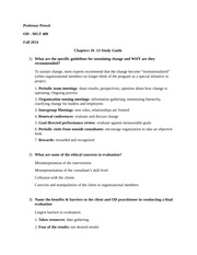Test 4: Chapters 10 -13 Study Guide