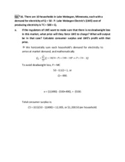 Solution to Problem Set 6