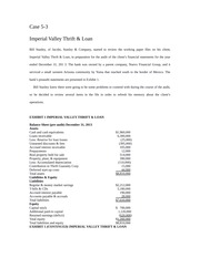 Case 5-3 Imperial Valley Thrift  Loan 3E
