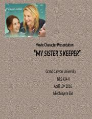 NRS434V.v10R.Movie Character Presentation (My Sister's Keeper)