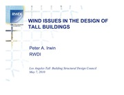 Wind Issues in Design of Tall Buildings
