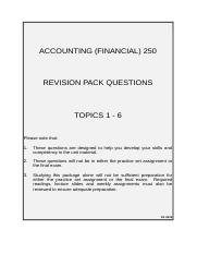 Revision Pack (T1-6)