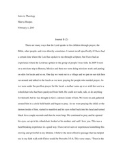 Journal B Essay - Prayer