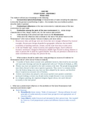 DHE 462 MIDTERM 2 STUDY GUIDE