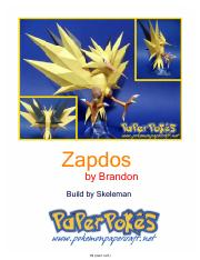 Zapdos Letter Shiny Lined