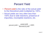 Lesson 5- percent yield no answer