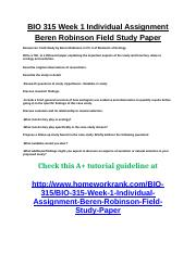 beren robertson field study Resources: field study by beren robinson in ch 5 ofelements of ecology write a 700- to 1,050-word paper explaining the important aspects of the study and how they relate to ecology and evolution describe original observations of researchers.