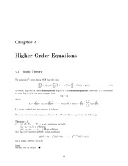 Math 334 High Order Equation Notes