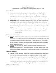 Research Paper- Outline #1