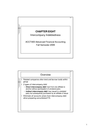 Advanced Financial Accounting Ch8 Lecture Notes