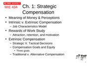 Chapter 1 Strategic Compensation A component of HR systems