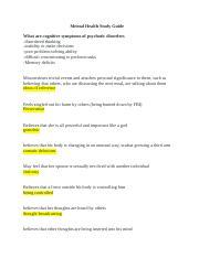 ATI Proctored Mental Health 1 pdf - ATI proctored Mental