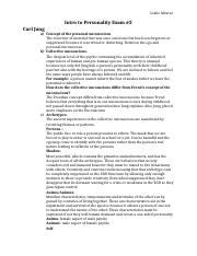 Adler, Jung, Horney Study Guide intro to personality exam 2.docx