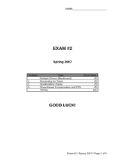 Acc124Exam2Spring2007SOLN
