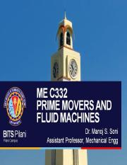 ME C332 PRIME MOVERS AND FLUID MACHINES- L9-10