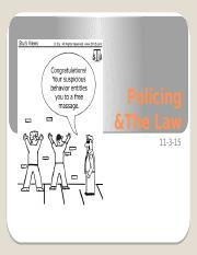 Wk 12_PP1 - Policing & the law.pptx