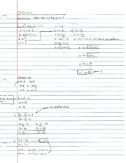 Pre-Calculus Section 1.4 Notes