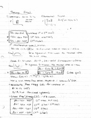 Thermodynamics Final Study Guide