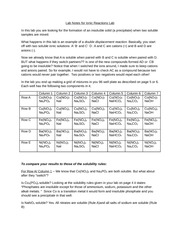 lab 3 ionic reactions Types of reactions lab report - free download as word doc (doc), pdf file (pdf), text file (txt) or read online for free uploaded from google docs.
