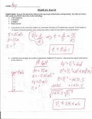Q1 - Exam #3 Part II Ans Key