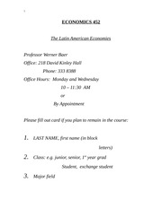 Econ452 Full Notes