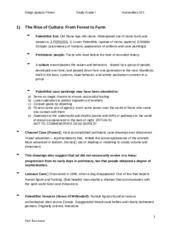 humanities 101 chapter 2 study guide Chapter and culture concept of culture central to explain who we are: culture consequence of human evolution that had the most profound impact on human nature summary foundations of psychology, neuroscience & behaviour: - chapter 2 notes - evolution study of fossilized remains of humanity's earliest ancestors.