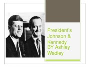 President's Johnson & Kennedy