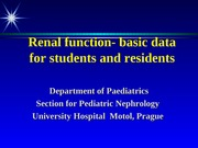 Renal functions