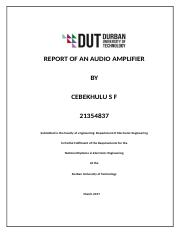 FINAL REPORT AUDIO AMPLIFIER.doc