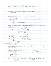 PHYS 12 Summary of Electromagnetism Formulas Notes