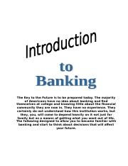 Banking Study Guide