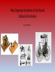 Most Important Inventions of the Second Industrial Revolution