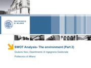 Lezione 4_SWOT Analysis-The Enviornment_part2