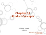 ch 10 Product Concepts Student Version