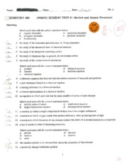 Review and Atomic Structures Test