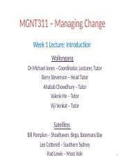 Lecture week 1 (Moodle)