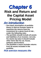 chapter (6), risk and return