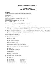 Topic 2 The Time Value of Money - RTB tutorial solutions.pdf