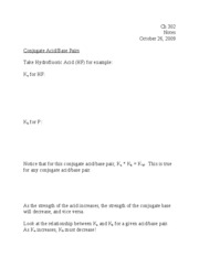 Lecture 11--pKa and pKb Notes