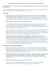 Key Text Based Questions for Lionfish Article