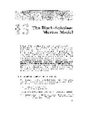 Chapter 13 Lecture on Black-Scholes Model