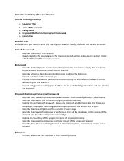Guideline for Writing a Research Proposal
