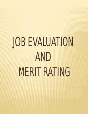 JOB EVALUATION AND MERIT RATING.pptx