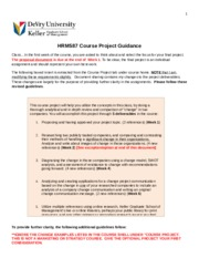HRM 587 Course Project GUIDANCE_2015