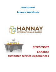 SITXCCS007  Enhance the customer service exp.docx