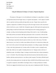 Using the Habituation Technique to Evaluate a Piagetian Hypothesis.docx