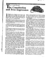 1_The Constitution and Free Expression